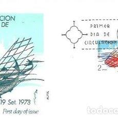 Sellos: SOBRE PRIMER DIA EDIFIL 2144 VI EXPOSICION MUNDIAL DE LA PESCA VIGO 12 SET 1973. Lote 254115175