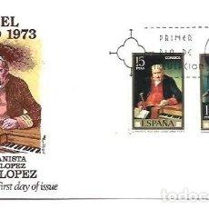 Sellos: SOBRE PRIMER DIA EDIFIL 2146 A 2153 VICENTE LOPEZ PORTAÑA 29 SET 1973. Lote 254115595