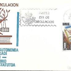 Sellos: ESTATUTO DE AUTONOMIA DE EUSKADI. SPD. BARCELONA 1979. Lote 254420050