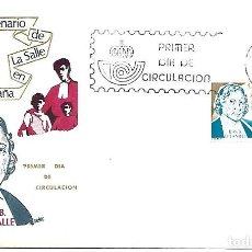 Sellos: CENTENARIO DE LA SALLE EN ESPAÑA. SPD. BARCELONA 1979. Lote 254420990