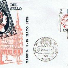 Sellos: EDIFIL 2127 FERIA NACIONAL DEL SELLO 1973. SOBRE Y MATASELLADO CONMEMORATIVO. Lote 254923665