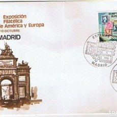 Sellos: EDIFIL 2576 ANIVERSARIO EXPOSICIÓN FILATELICA EUROPA Y AMERICA. ESPAMER SOBRE CONMEMORATIVO 1980. Lote 254924500