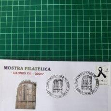 Sellos: 2005 MOSTRA FILATÉLICA NOIA ALFONSO XIII MATASELLO SAN MARTIÑO EDIFIL 4073 VIOLENCIA GENERO. Lote 255520225