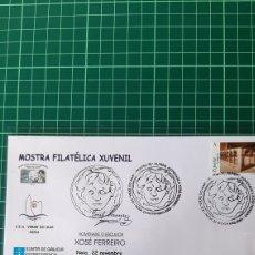 Sellos: XOSÉ FERREIRO ESCULTURA MOSTRA FILATÉLICA 2005 NOIA LA CORUÑA GALICIA MATASELLO EDIFIL 4057. Lote 255522610