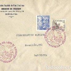Sellos: SOBRE MATASELLOS ESPECIAL IV CENTENARIO DEL LIBRO DE EJERCICIOS MANRESA 17 MAYO 1948 CONGREGACION MA. Lote 259766705