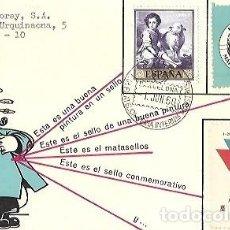 Sellos: SOBRE MATASELLOS ESPECIAL XXXVIII FERIA OFICIAL E INTERNACIONAL DE MUESTRAS DE BARCELONA. Lote 259767010