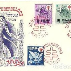 Sellos: SOBRE PRIMER DIA DE CIRCULACION LUCHA ANTITUBERCULOSOS 1950 1951 EDIFIL 1084 A 1087 CRUZ DE LORENA. Lote 259773740