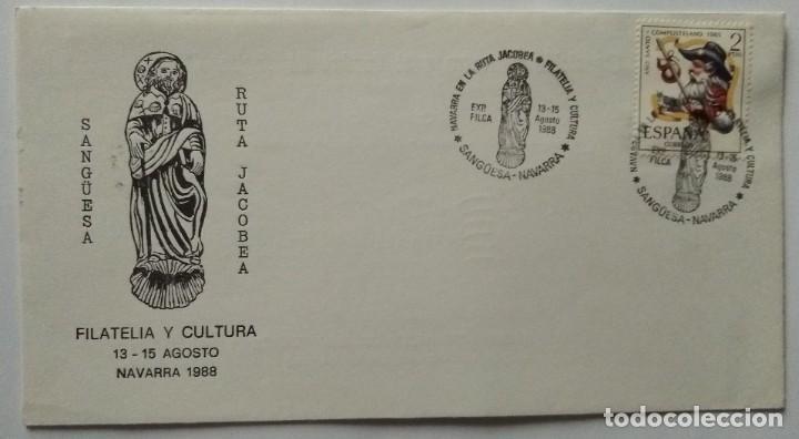 Sellos: LOTE 2 con 23 Sobres varios tamaños con distinto matasello, sello y motivo, Ruta Jacobea - Foto 21 - 259876760