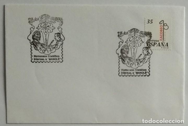 Sellos: LOTE 2 con 22 Sobres varios tamaños con distinto matasello, sello y motivo, Ruta Jacobea - Foto 5 - 259878380