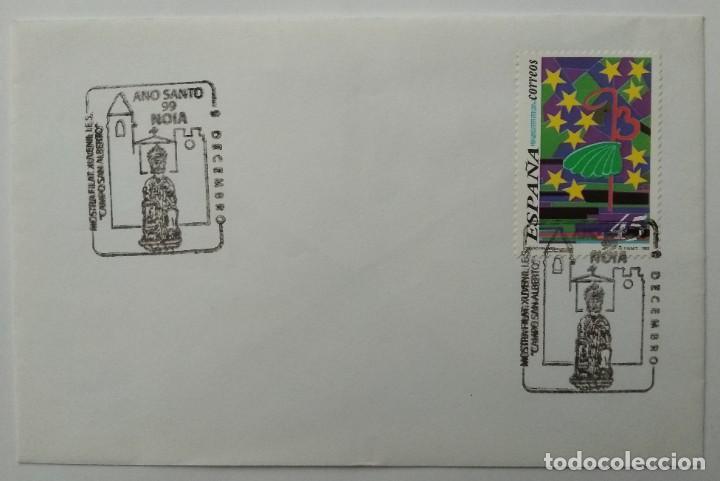 Sellos: LOTE 2 con 22 Sobres varios tamaños con distinto matasello, sello y motivo, Ruta Jacobea - Foto 7 - 259878380