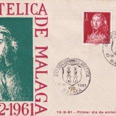 Sellos: LEANDRO FERNANDEZ DE MORATIN II CENTENARIO 1961 (EDIFIL 1328/29) SPD MATASELLOS X EXPOSICION MALAGA.. Lote 259905255