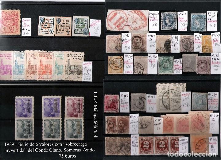 Sellos: MALAGA Y PROV.- H. POSTAL, MATASELLOS Y E. LOCALES. P.V. 9.117 €. VER CONDICIONES Y 22 FOTOS MAS. - Foto 14 - 31733886