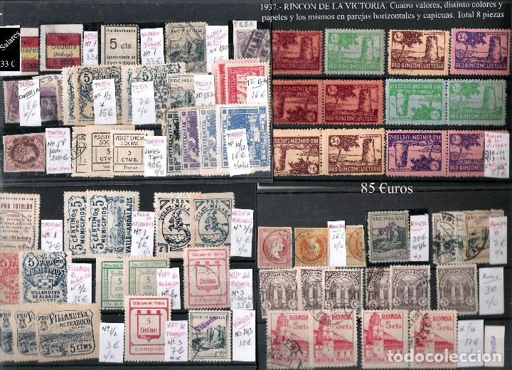 Sellos: MALAGA Y PROV.- H. POSTAL, MATASELLOS Y E. LOCALES. P.V. 9.117 €. VER CONDICIONES Y 22 FOTOS MAS. - Foto 19 - 31733886