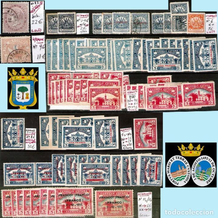 Sellos: HUELVA Y PROV.- HIST. POSTAL, MATASELLOS Y E. LOCALES. P.V. 8.111 € VER 15 FOTOS MAS Y CONDICIONES. - Foto 3 - 31807724