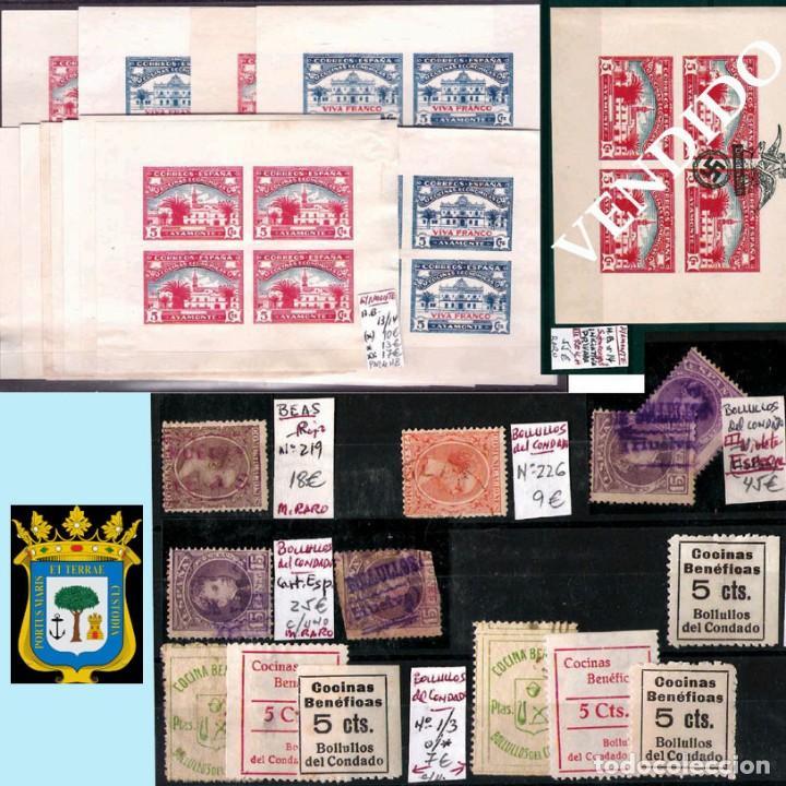 Sellos: HUELVA Y PROV.- HIST. POSTAL, MATASELLOS Y E. LOCALES. P.V. 8.111 € VER 15 FOTOS MAS Y CONDICIONES. - Foto 4 - 31807724