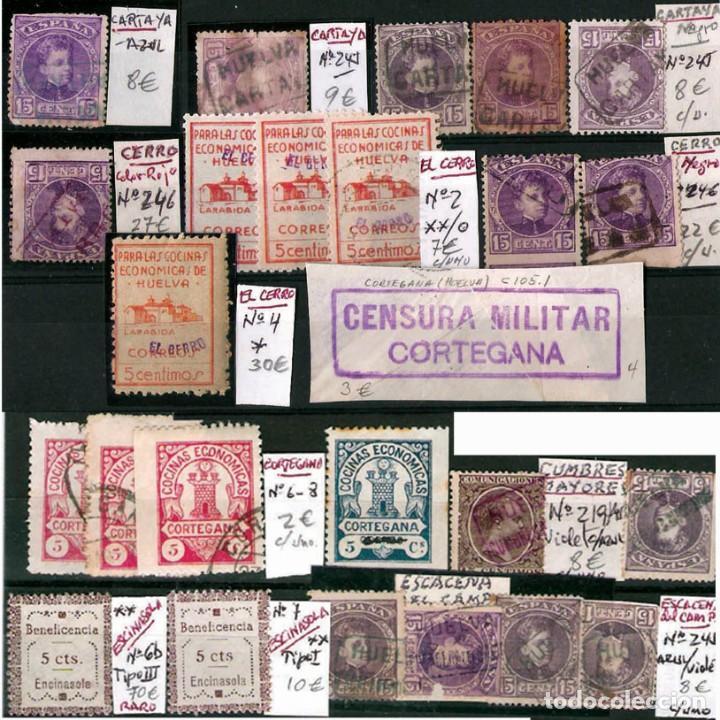 Sellos: HUELVA Y PROV.- HIST. POSTAL, MATASELLOS Y E. LOCALES. P.V. 8.111 € VER 15 FOTOS MAS Y CONDICIONES. - Foto 6 - 31807724