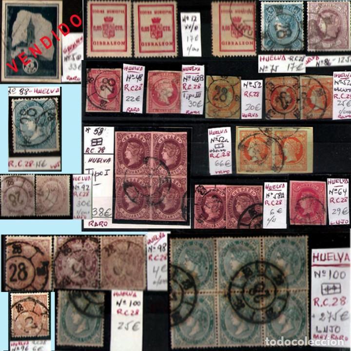 Sellos: HUELVA Y PROV.- HIST. POSTAL, MATASELLOS Y E. LOCALES. P.V. 8.111 € VER 15 FOTOS MAS Y CONDICIONES. - Foto 8 - 31807724