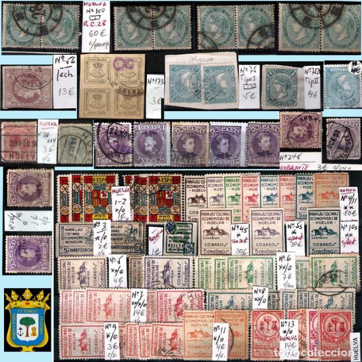 Sellos: HUELVA Y PROV.- HIST. POSTAL, MATASELLOS Y E. LOCALES. P.V. 8.111 € VER 15 FOTOS MAS Y CONDICIONES. - Foto 9 - 31807724