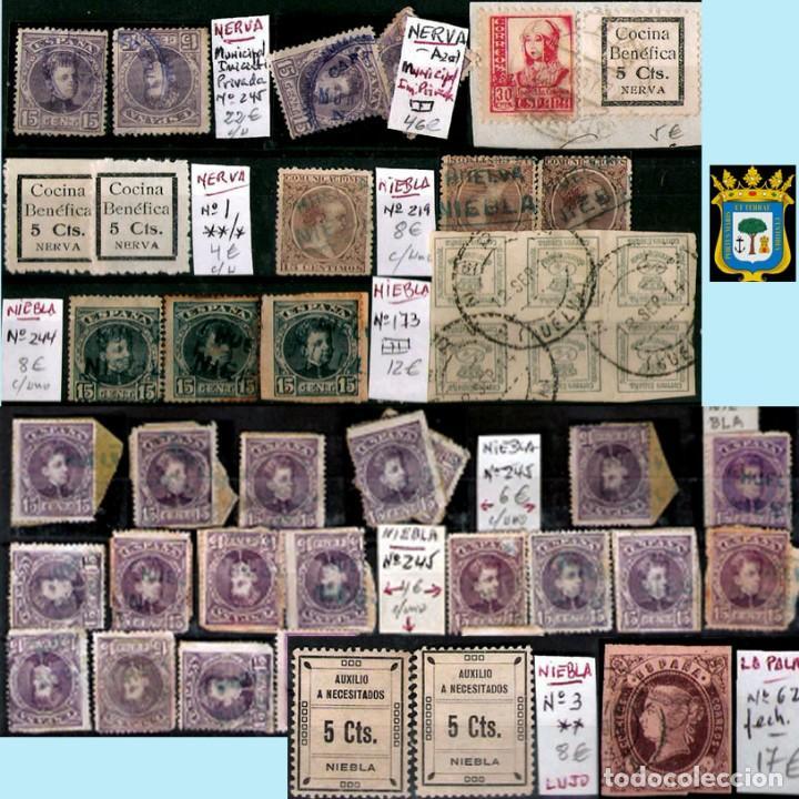 Sellos: HUELVA Y PROV.- HIST. POSTAL, MATASELLOS Y E. LOCALES. P.V. 8.111 € VER 15 FOTOS MAS Y CONDICIONES. - Foto 12 - 31807724