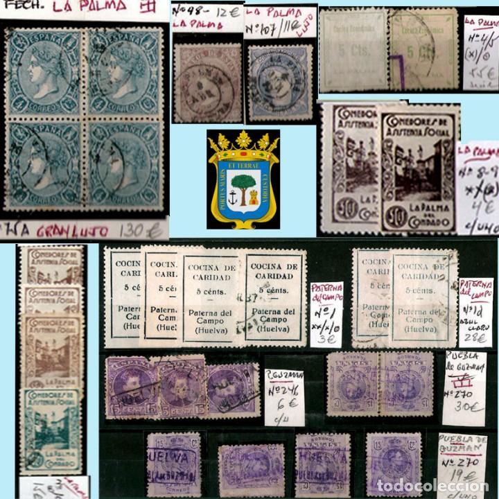 Sellos: HUELVA Y PROV.- HIST. POSTAL, MATASELLOS Y E. LOCALES. P.V. 8.111 € VER 15 FOTOS MAS Y CONDICIONES. - Foto 13 - 31807724