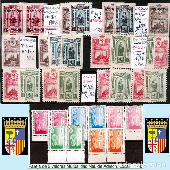 Sellos: ZARAGOZA Y PROV.- H. POSTAL, MATASELLOS Y E. LOCALES. P.V. 9.067 €. VER 18 FOTOS MAS Y CONDICIONES. - Foto 11 - 31898538