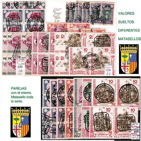 Sellos: ZARAGOZA Y PROV.- H. POSTAL, MATASELLOS Y E. LOCALES. P.V. 9.067 €. VER 18 FOTOS MAS Y CONDICIONES. - Foto 14 - 31898538