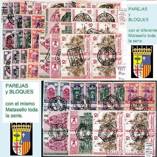 Sellos: ZARAGOZA Y PROV.- H. POSTAL, MATASELLOS Y E. LOCALES. P.V. 9.067 €. VER 18 FOTOS MAS Y CONDICIONES. - Foto 15 - 31898538