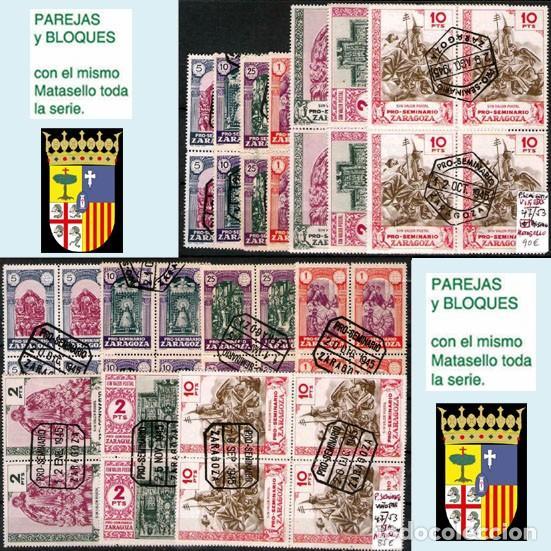 Sellos: ZARAGOZA Y PROV.- H. POSTAL, MATASELLOS Y E. LOCALES. P.V. 9.067 €. VER 18 FOTOS MAS Y CONDICIONES. - Foto 16 - 31898538
