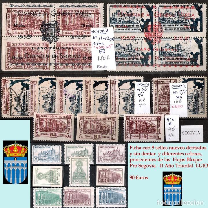 Sellos: SEGOVIA Y PROV.-HIST. POSTAL. MATASELLOS, CARTAS y E. LOCALES. P.V. 5.692 €.VER 15 FOTOS-CONDICIONES - Foto 4 - 31844447