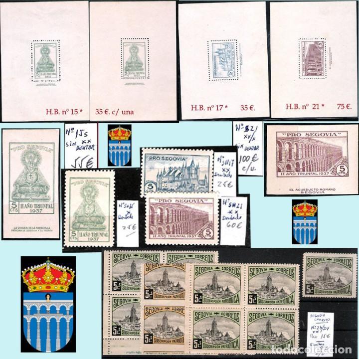 Sellos: SEGOVIA Y PROV.-HIST. POSTAL. MATASELLOS, CARTAS y E. LOCALES. P.V. 5.692 €.VER 15 FOTOS-CONDICIONES - Foto 6 - 31844447