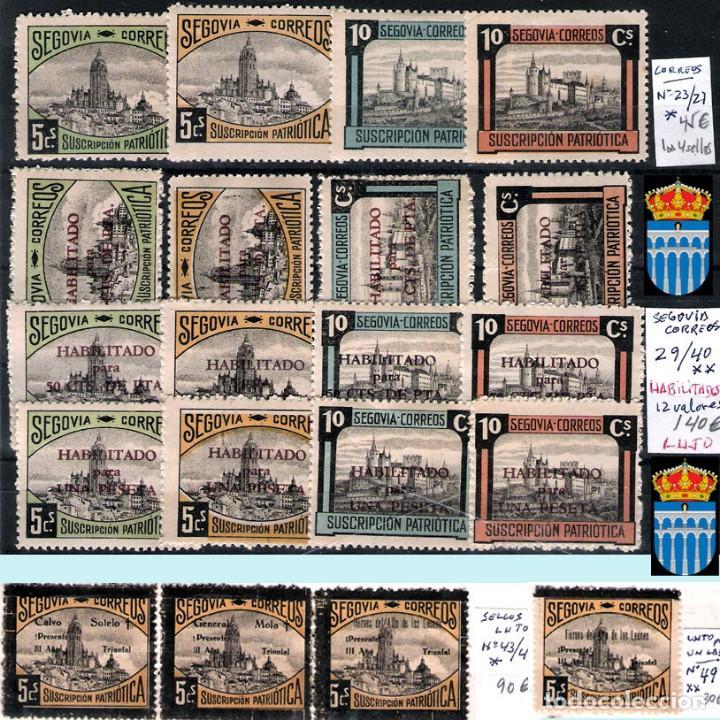Sellos: SEGOVIA Y PROV.-HIST. POSTAL. MATASELLOS, CARTAS y E. LOCALES. P.V. 5.692 €.VER 15 FOTOS-CONDICIONES - Foto 7 - 31844447