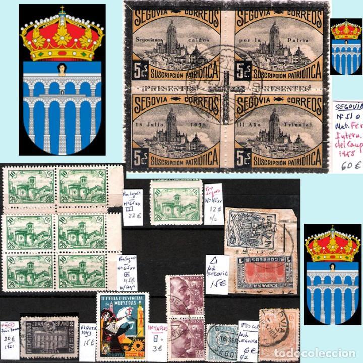 Sellos: SEGOVIA Y PROV.-HIST. POSTAL. MATASELLOS, CARTAS y E. LOCALES. P.V. 5.692 €.VER 15 FOTOS-CONDICIONES - Foto 8 - 31844447