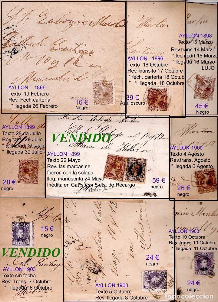 Sellos: SEGOVIA Y PROV.-HIST. POSTAL. MATASELLOS, CARTAS y E. LOCALES. P.V. 5.692 €.VER 15 FOTOS-CONDICIONES - Foto 9 - 31844447