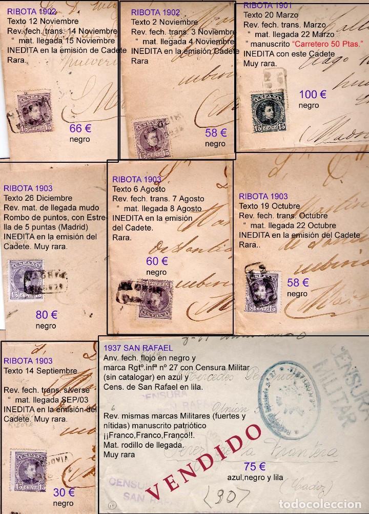 Sellos: SEGOVIA Y PROV.-HIST. POSTAL. MATASELLOS, CARTAS y E. LOCALES. P.V. 5.692 €.VER 15 FOTOS-CONDICIONES - Foto 11 - 31844447