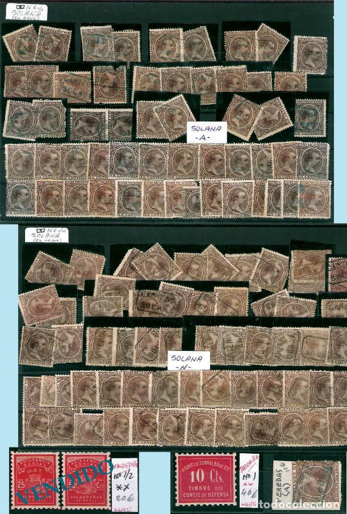 Sellos: CIUDAD REAL Y PROV.- H. POSTAL, MATASELLOS Y E. LOCALES. P.V. 2.440 €. VER 4 PLANCHAS Y CONDICIONES - Foto 4 - 31605395