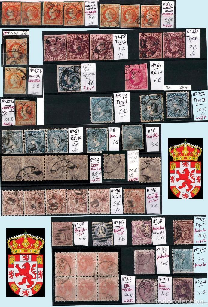 Sellos: CORDOBA Y PROV.- H. POSTAL, MATASELLOS Y E. LOCALES. P.V. 4.599 €. VER 6 PLANCHAS.Y CONDICIONES. - Foto 2 - 31620589
