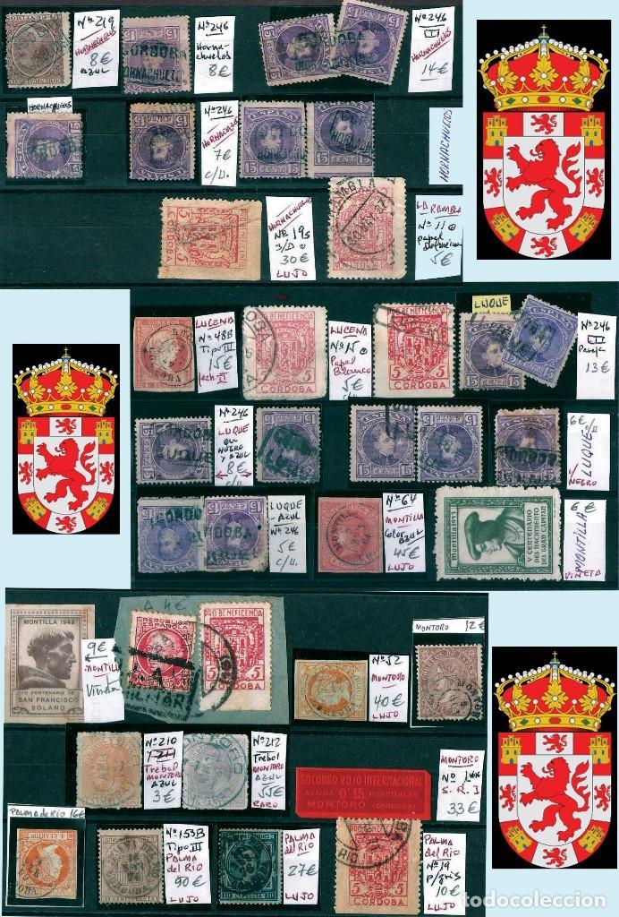 Sellos: CORDOBA Y PROV.- H. POSTAL, MATASELLOS Y E. LOCALES. P.V. 4.599 €. VER 6 PLANCHAS.Y CONDICIONES. - Foto 5 - 31620589