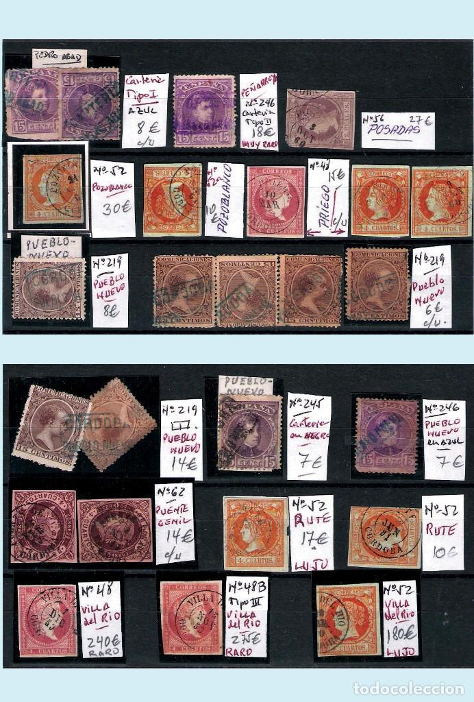 Sellos: CORDOBA Y PROV.- H. POSTAL, MATASELLOS Y E. LOCALES. P.V. 4.599 €. VER 6 PLANCHAS.Y CONDICIONES. - Foto 6 - 31620589