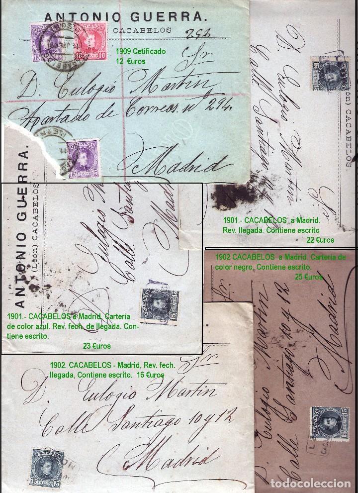 Sellos: LEON Y PROV.- HISTORIA POSTAL Y MATASELLOS. P.V. 1.416 €. VER CONDICIONES Y 7 FOTOS ADICIONALES. - Foto 3 - 31678157