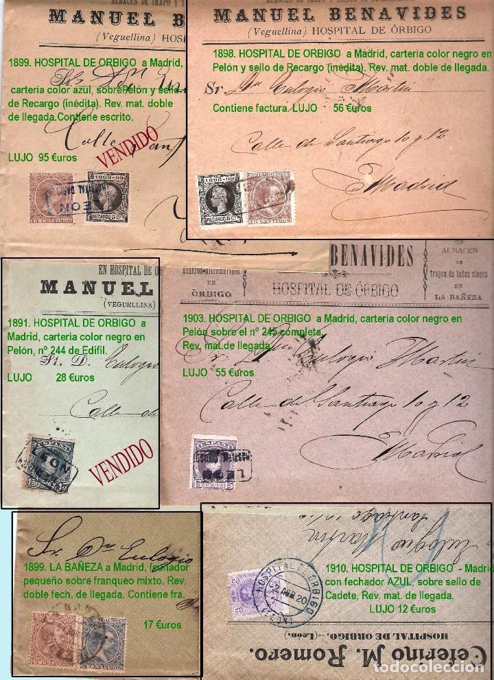 Sellos: LEON Y PROV.- HISTORIA POSTAL Y MATASELLOS. P.V. 1.416 €. VER CONDICIONES Y 7 FOTOS ADICIONALES. - Foto 6 - 31678157
