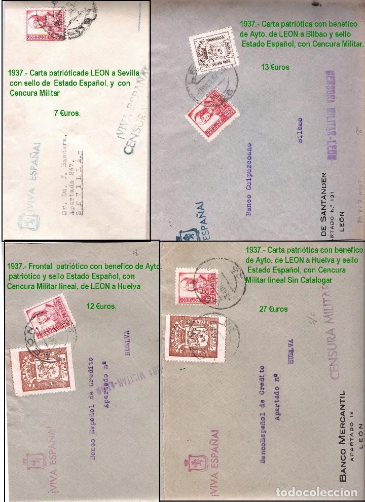 Sellos: LEON Y PROV.- HISTORIA POSTAL Y MATASELLOS. P.V. 1.416 €. VER CONDICIONES Y 7 FOTOS ADICIONALES. - Foto 9 - 31678157