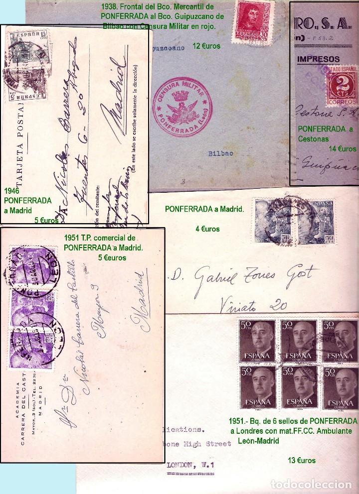 Sellos: LEON Y PROV.- HISTORIA POSTAL Y MATASELLOS. P.V. 1.416 €. VER CONDICIONES Y 7 FOTOS ADICIONALES. - Foto 11 - 31678157