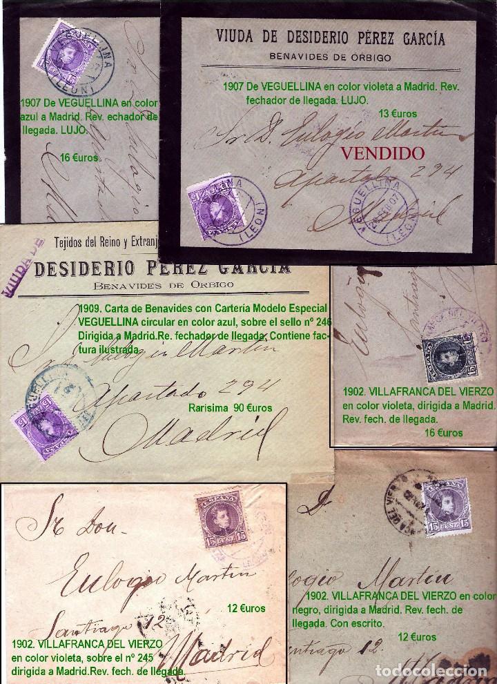 Sellos: LEON Y PROV.- HISTORIA POSTAL Y MATASELLOS. P.V. 1.416 €. VER CONDICIONES Y 7 FOTOS ADICIONALES. - Foto 13 - 31678157