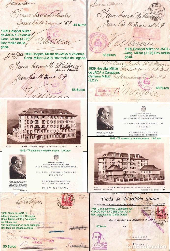 Sellos: HUESCA Y PROV.- H. POSTAL, MAT., CARTAS, E. LOCALES y T.P. P.V. 2.830 €. VER 7 FOTOS - CONDICIONES. - Foto 6 - 31701232