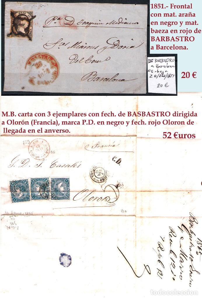 Sellos: HUESCA Y PROV.- H. POSTAL, MAT., CARTAS, E. LOCALES y T.P. P.V. 2.830 €. VER 7 FOTOS - CONDICIONES. - Foto 14 - 31701232