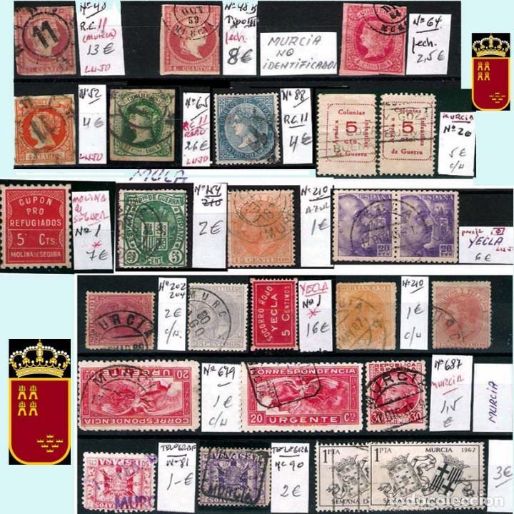 Sellos: MURCIA Y PROV.- H. POSTAL, MAT., E. LOCALES, CARTAS - T.P. P.V. 2.571 €.VER 11 PLANCHAS -CONDICIONES - Foto 4 - 31774716