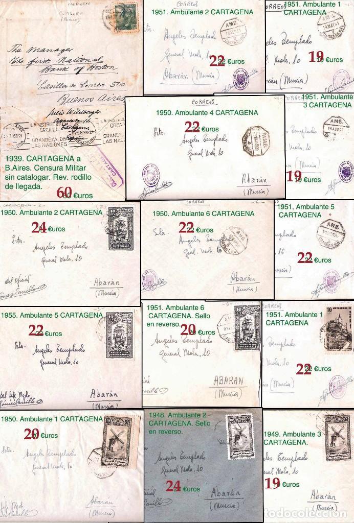 Sellos: MURCIA Y PROV.- H. POSTAL, MAT., E. LOCALES, CARTAS - T.P. P.V. 2.571 €.VER 11 PLANCHAS -CONDICIONES - Foto 7 - 31774716