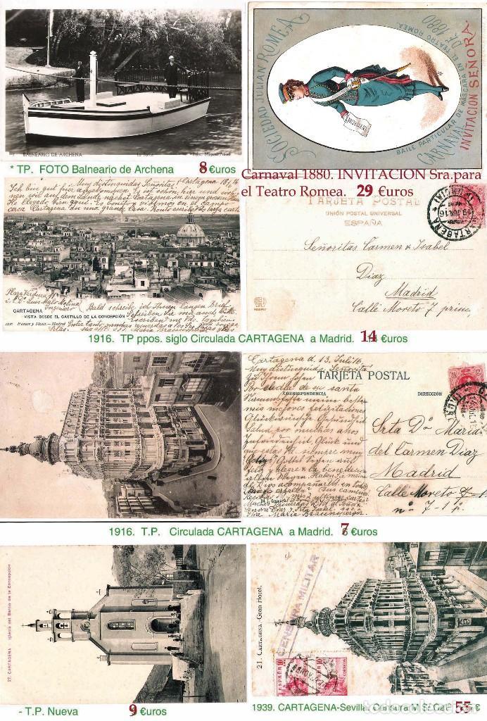 Sellos: MURCIA Y PROV.- H. POSTAL, MAT., E. LOCALES, CARTAS - T.P. P.V. 2.571 €.VER 11 PLANCHAS -CONDICIONES - Foto 10 - 31774716