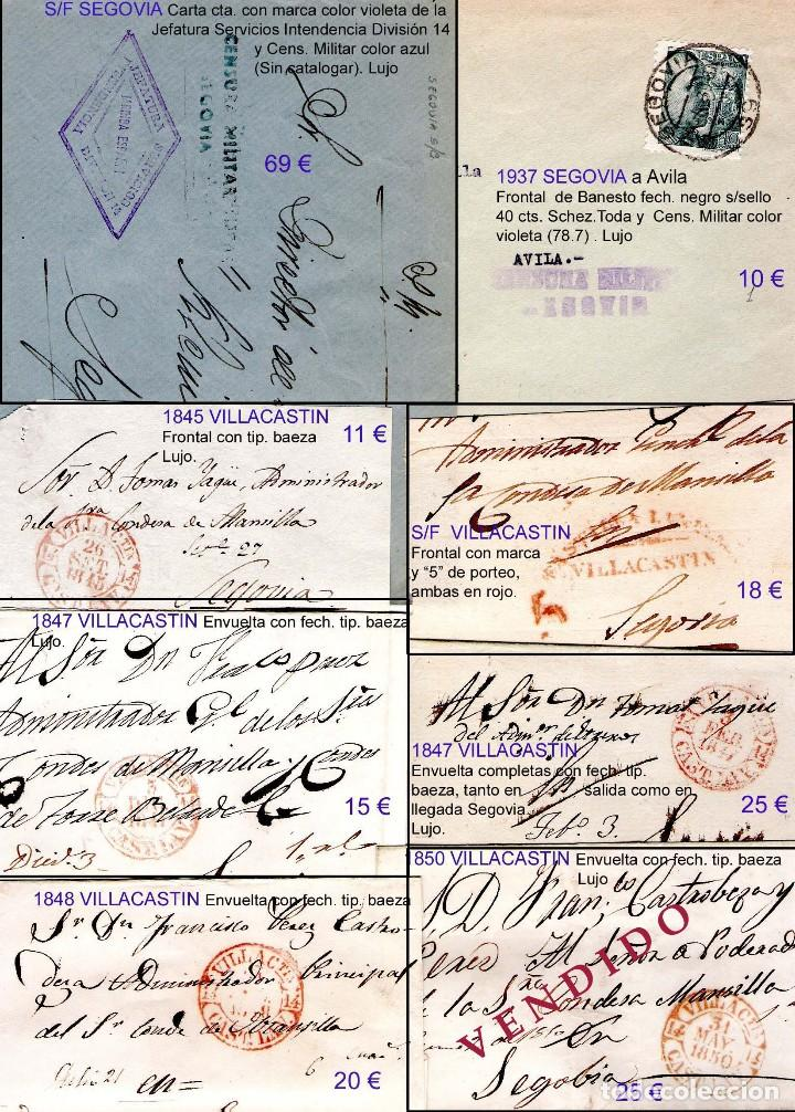 Sellos: SEGOVIA Y PROV.-HIST. POSTAL. MATASELLOS, CARTAS y E. LOCALES. P.V. 5.692 €.VER 15 FOTOS-CONDICIONES - Foto 13 - 31844447