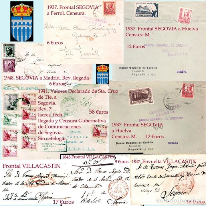 Sellos: SEGOVIA Y PROV.-HIST. POSTAL. MATASELLOS, CARTAS y E. LOCALES. P.V. 5.692 €.VER 15 FOTOS-CONDICIONES - Foto 14 - 31844447